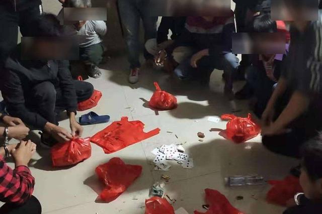 三亚警方捣毁一处赌博窝点 处理10名涉毒人员