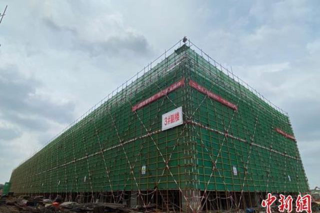 海口美兰空港一站式飞机维修基地首座厂房封顶