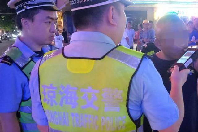 无证+酒驾,一男子被琼海交警依法罚款并行政拘留