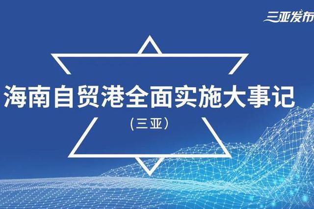 三亚:奋进自贸港 打造新标杆 (附大事记)