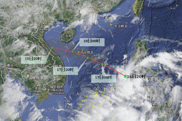南海热带低压16日前后生成 海南5市县降雨量可达250毫米