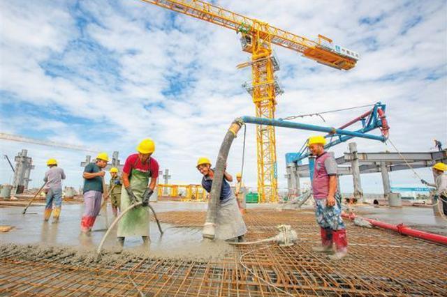 海口国际免税城项目:夯基础 抢工时