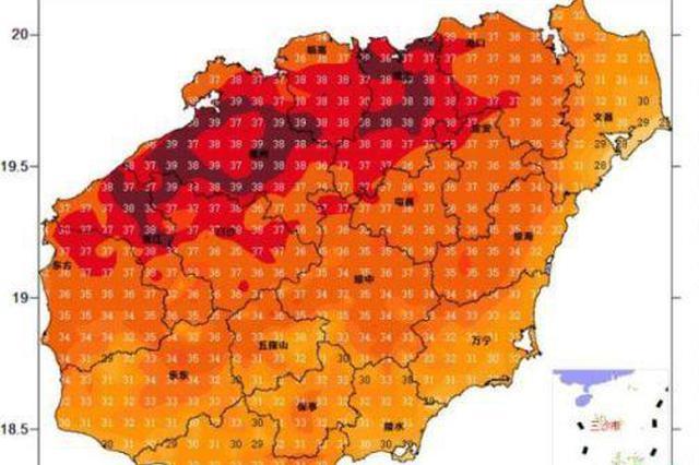 未来三天最高气温或将达38℃ 海南发布高温四级预警