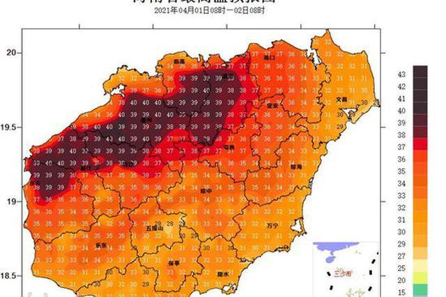 高溫四級預警!今天海口等8市縣將出現37℃以上高溫