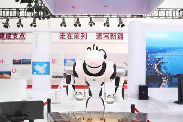 音乐机器人、F1电竞驾驶设备……首届消博会完成布展