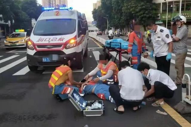 海口保时捷司机涉嫌醉驾 撞伤环卫工后丢车离开现场