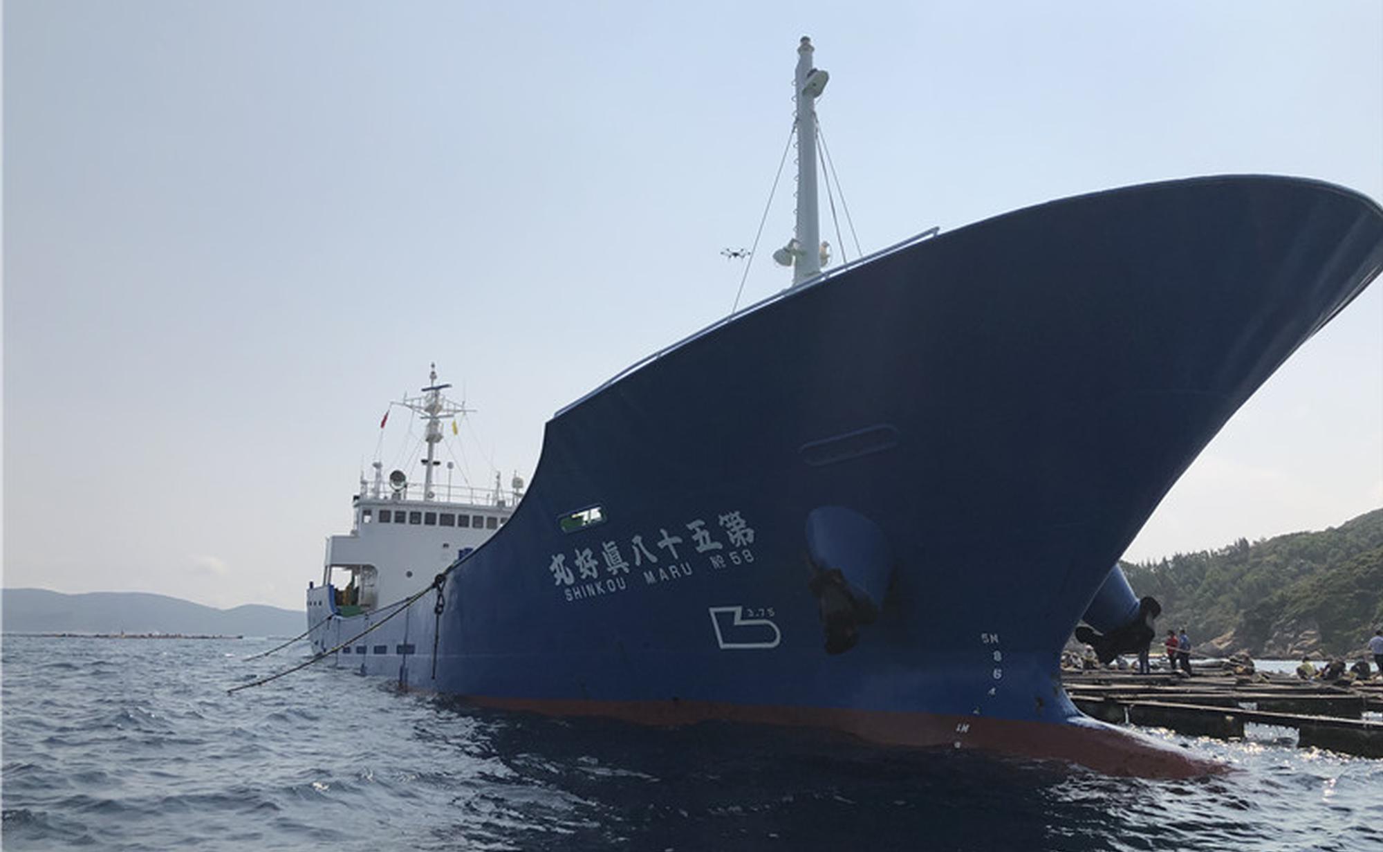 海南今年首批出口鱼苗装船出海