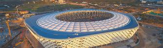三亚国际体育产业园体育场屋面完工