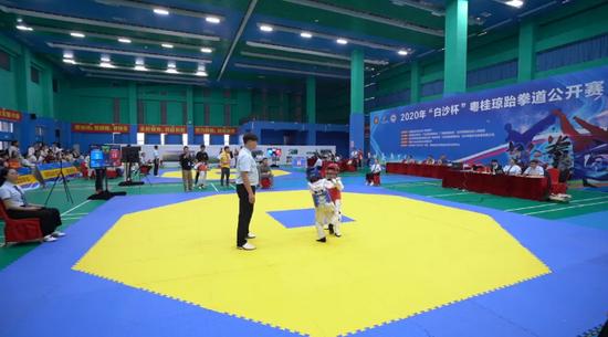 """2020年""""白沙杯""""粤桂琼跆拳道公开赛在白沙闭幕 共496名运动员参赛"""