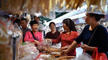 海南:海鲜干货市场火