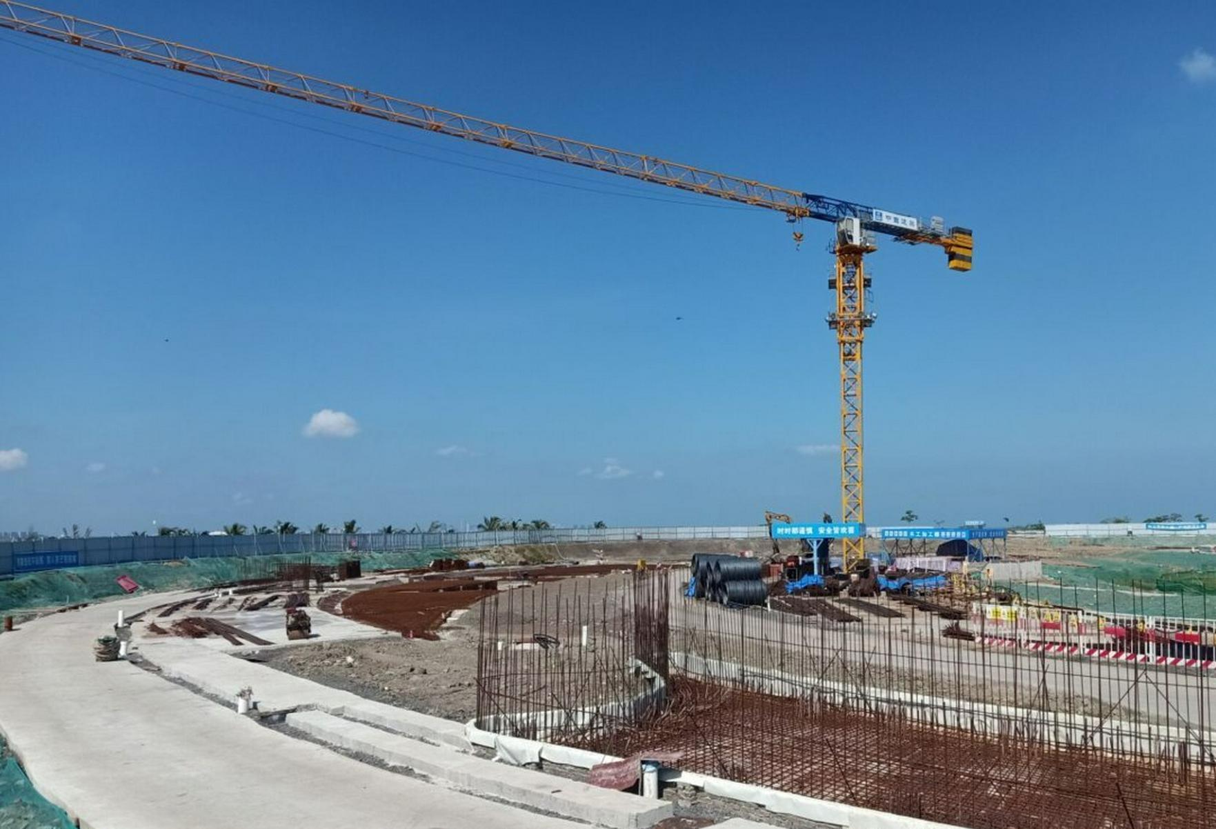 海口湾6号高标准驿站全面进入主体施工阶段