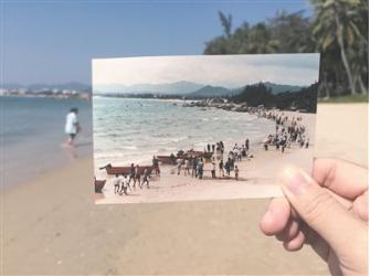 图:天涯海角沙滩