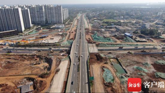 海口椰海大道和东线高速互通立交预计今年7月通车