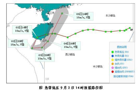 热带低压将在海南岛附近回旋 2日-6日海南仍有持续性强降水