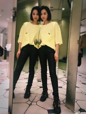 宋茜称自己镜像为双胞胎姐妹