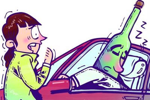 酒后驾车在高速应急车道睡大觉 男子被定安交警查获