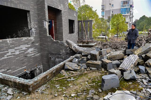 武汉一小区开发商破产重整 近百套别墅被拆