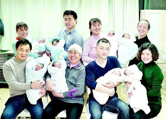 奇!武汉一家医院同天诞生4对龙凤胎