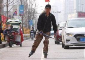 从北京到湖北 襄阳90后小伙19天滑行上千公里回家