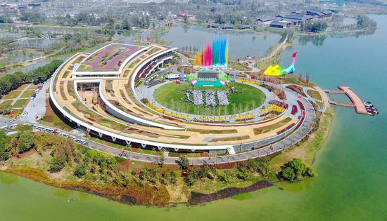 湖北第二届(荆州)园林博览会开幕