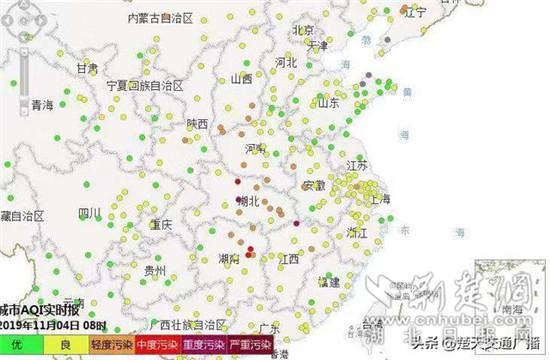 受北方污染传输影响 武汉空气质