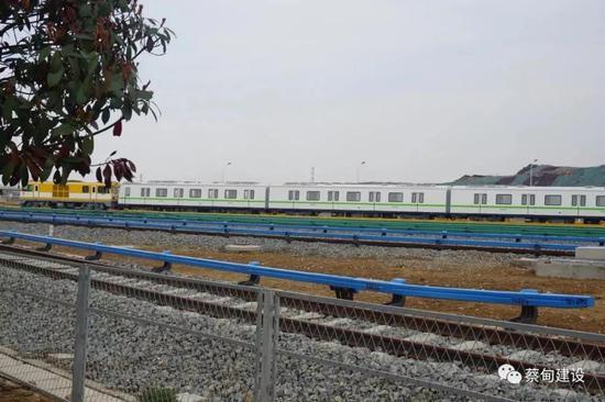 武汉轨道交通蔡甸线工程表面