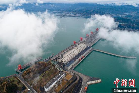 三峡水利枢纽工程。 王罡 摄
