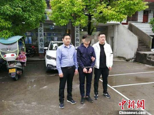 盗窃嫌疑人孙某在贵州落网。受访单位提供