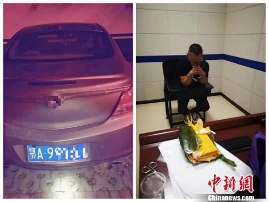 谭某被警方依法刑事拘留。湖北仙桃警方供图