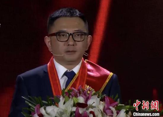 胡明 武汉电视台直播截图