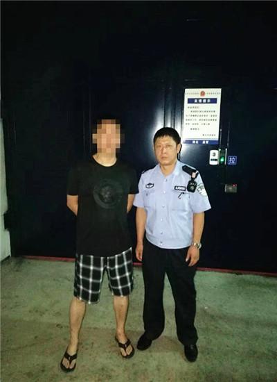 男子因扰乱单位秩序被行政拘留 通讯员 汪莹 摄