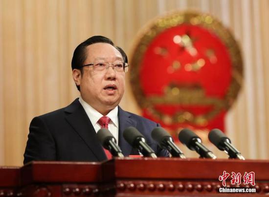 湖北省省长王晓东资料图。中新社记者 张畅 摄