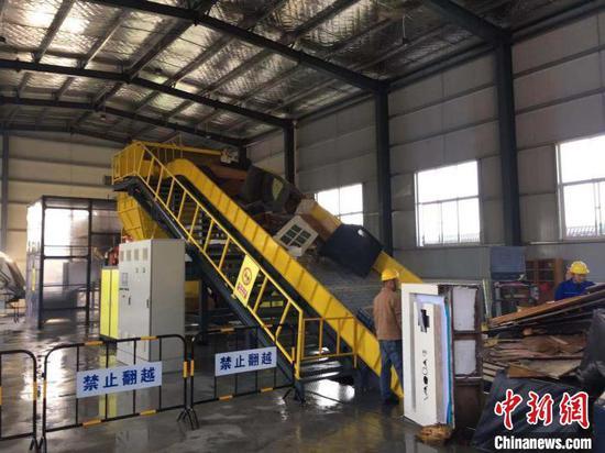 位于襄阳市襄城区的的大件垃圾处理中央 胡传林 摄