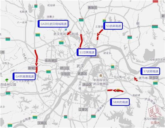 图6 6月18日返程高峰易堵路段