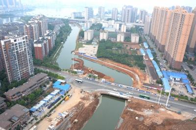 南湖连通渠新建明渠顺利实现通水