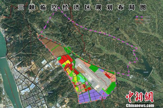 三峡临空经济区规划布局图。资料图 唐水唐 摄