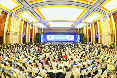 7月8日,第十七届华侨华人创业发展洽谈会在武汉开幕 记者周超 摄