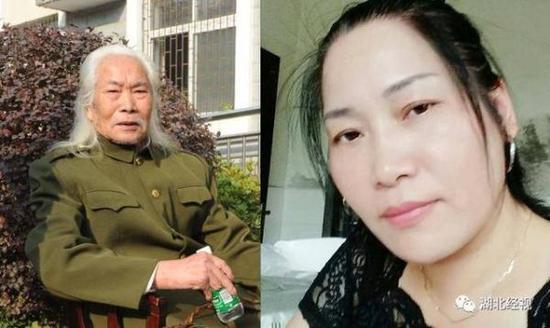 左图为老人;右图为王文清妹妹