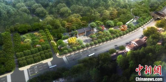 洗马长街效果图和鸟瞰图 武汉市园林和林业局供图