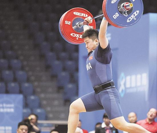 汪周雨 举重女子 87公斤级