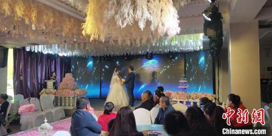 婚礼现场 受访者本人供图