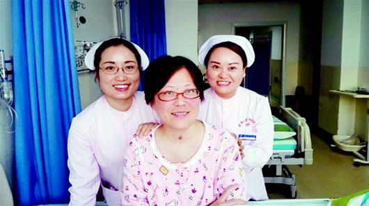 图为:王丽慧其实也是癌症、重症肌无力患者