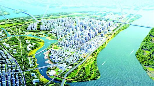 图为:长江新城规划图