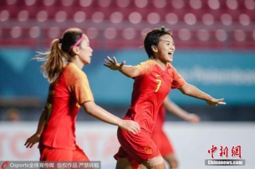 资料图:王霜庆祝进球。图片来源:Osports全体育图片社