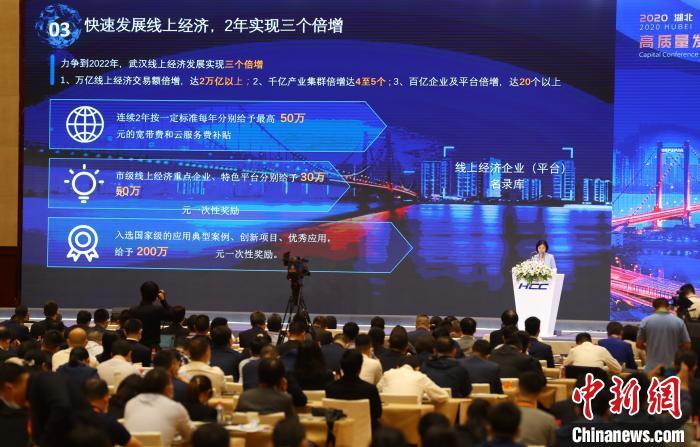 图为2020湖北高质量发展资本大会28日在武汉召开 张畅 摄