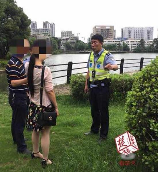 原标题:闹纠纷妻子要跳湖,丈夫儿子急坏了,三十余警力齐寻找,劝和一家人