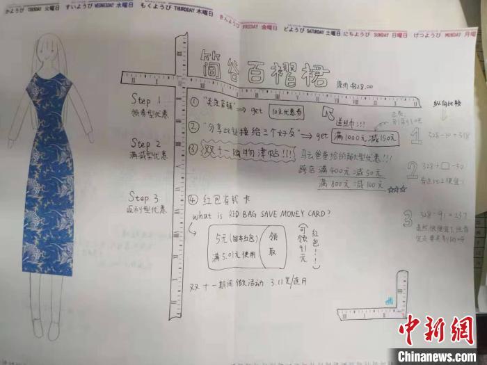 """图为高中生用数学思维帮助妈妈购物节""""避雷"""" 武钢三中供图"""