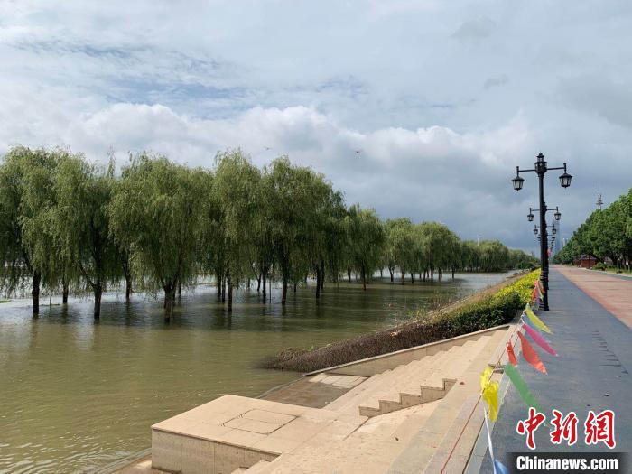 图为8月9日长江汉口站已经退出警戒水位 武一力 摄