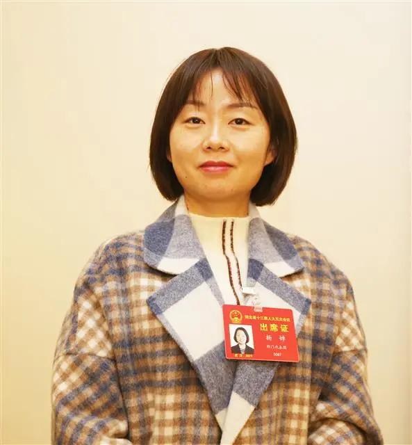 省人大代表、沙洋县疾病预防控制中心传防科副主任杨婵(湖北日报全媒记者 张鸿 摄)