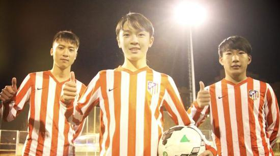 王振澳(中)曾在马竞青训效力。